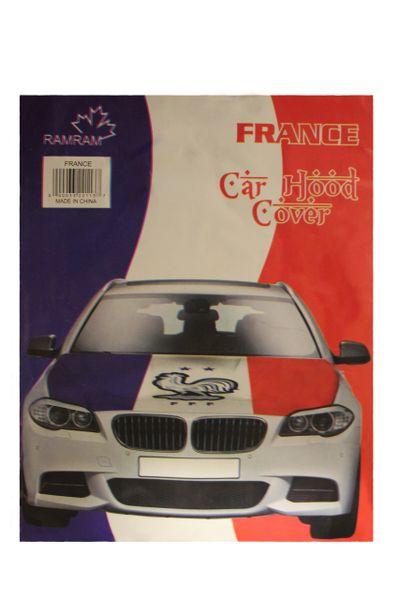 FRANCE Country Flag , 2 Stars FFF Logo CAR HOOD COVER