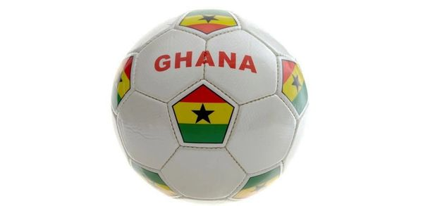 GHANA WHITE COUNTRY FLAG FIFA WORLD CUP SOCCER BALL SIZE 5 .. NEW AND IN A PACKAGE