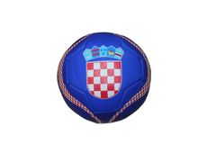 CROATIA BLUE COUNTRY FLAG FIFA WORLD CUP SOCCER BALL SIZE 5 .. NEW AND IN A PACKAGE
