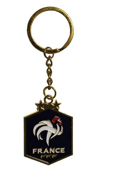 FRANCE 2 Stars FFF Logo Metal KEYCHAIN