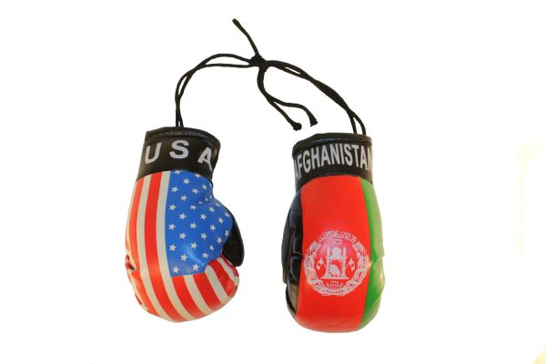 USA & AFGHANISTAN Country Flags Mini BOXING GLOVES