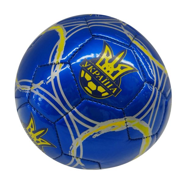 UKRAINE BLUE WITH STRIPES & TRIDENT SOCCER BALL SIZE 2 .. NEW AND IN A PACKAGE