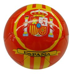 SPAIN RED YELLOW COUNTRY FLAG SOCCER BALL SIZE 5 .. NEW AND IN A PACKAGE