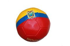 ECUADOR RED - BLUE-YELLOW COUNTRY FLAG FIFA WORLD CUP SOCCER BALL SIZE 5 .. NEW AND IN A PACKAGE
