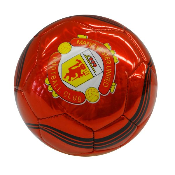 MANCHESTER UNITED / PREMIER LEAGUE , ENGLAND / RED WITH BLACK STRIPES SOCCER BALL SIZE 5 .. NEW AND IN A PACKAGE
