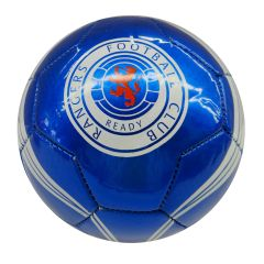 RANGERS F.C. / SCOTTISH PREMIERSHIP , SCOTLAND / BLUE WITH WHITE STRIPES SOCCER BALL SIZE 5 .. NEW AND IN A PACKAGE