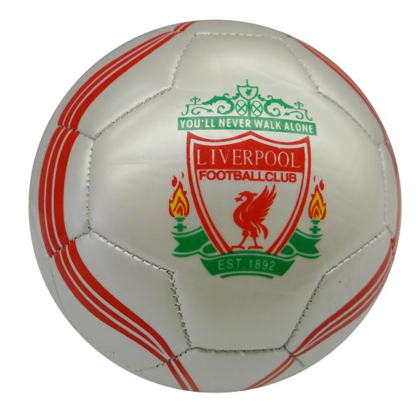 LIVERPOOL / PREMIER LEAGUE , ENGLAND / WHITE WITH RED STRIPES SOCCER BALL SIZE 5.. NEW AND IN A PACKAGE