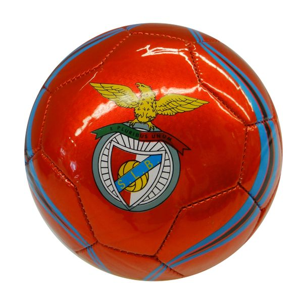 S.L.B. BENFICA / PORTUGUESE SPORT CLUB , PORTUGAL / RED WITH COLORED STRIPES SOCCER BALL SIZE 5.. NEW AND IN A PACKAGE