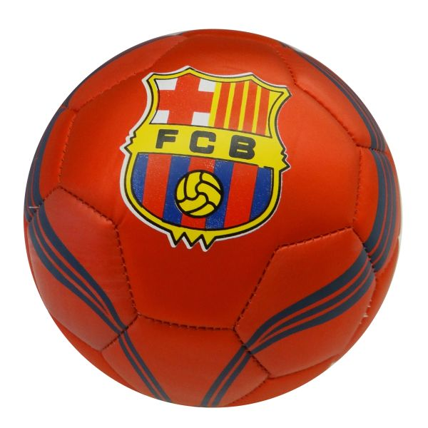 BARCELONA F.C. / PREMIERA LIGA , SPAIN / RED WITH BLUE STRIPES SOCCER BALL SIZE 5.. NEW AND IN A PACKAGE