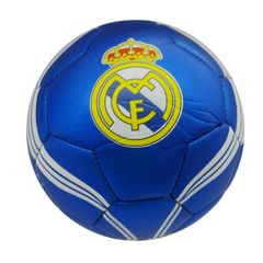 REAL MADRID / PREMIERA LIGA , SPAIN / BLUE WITH WHITE STRIPES SOCCER BALL SIZE 5.. NEW AND IN A PACKAGE
