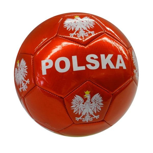 POLSKA POLAND RED WITH EAGLE FIFA WORLD CUP SOCCER BALL SIZE 5 .. NEW AND IN A PACKAGE