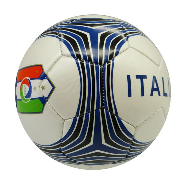ITALIA ITALY WHITE WITH COLORED STRIPES FIGC LOGO FIFA WORLD CUP SOCCER BALL SIZE 5 .. NEW AND IN A PACKAGE