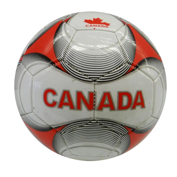 """CANADA"" WITH COLORED STRIPES FIFA WORLD CUP SOCCER BALL SIZE 5 .. NEW AND IN A PACKAGE"