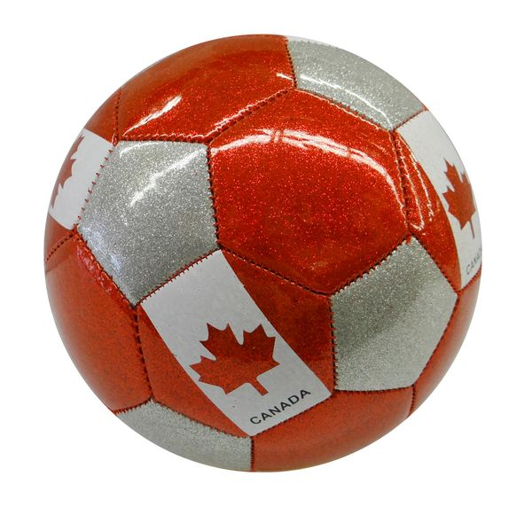 CANADA RED - GREY - WHITE WITH MAPLE LEAF FIFA WORLD CUP SOCCER BALL SIZE 5 .. NEW AND IN A PACKAGE