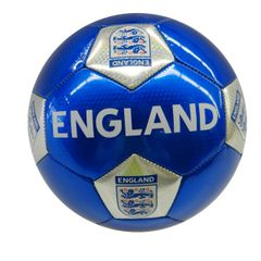 ENGLAND BLUE WITH 3 LIONS FIFA WORLD CUP SOCCER BALL SIZE 5 .. NEW AND IN A PACKAGE