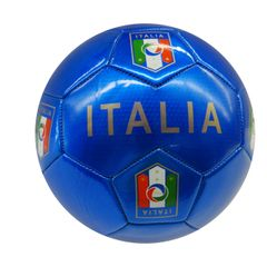 ITALIA ITALY BLUE WITH TITLE FIGC LOGO FIFA WORLD CUP SOCCER BALL SIZE 5 .. NEW AND IN A PACKAGE