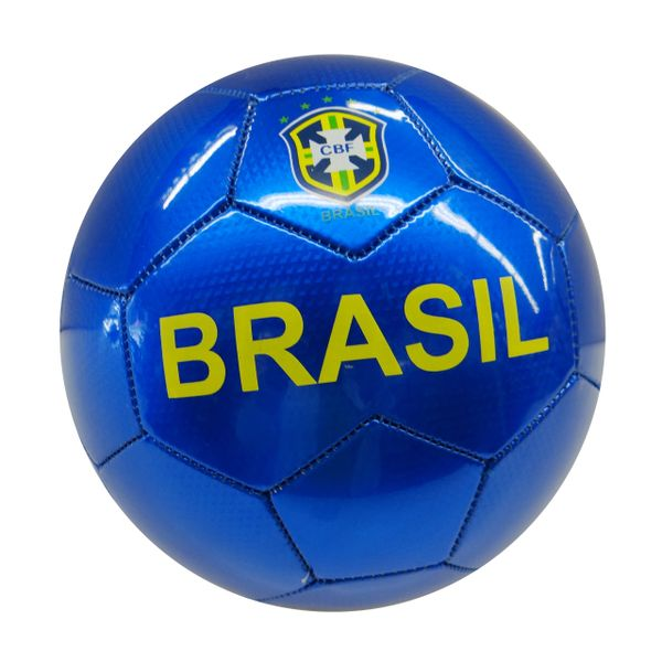 BRASIL 5 STARS BLUE CBF LOGO FIFA WORLD CUP SOCCER BALL SIZE 5 .. NEW AND IN A PACKAGE