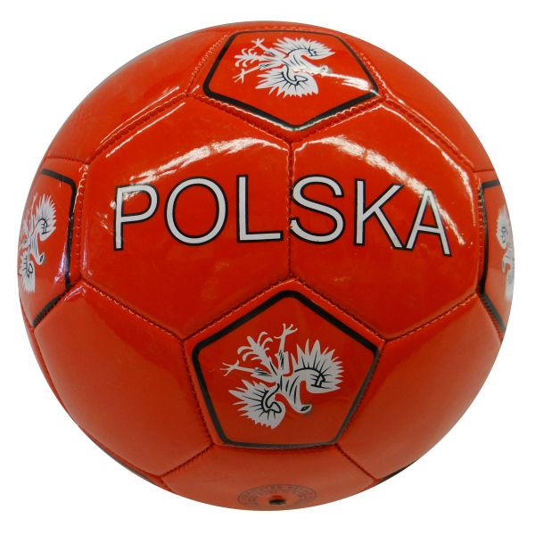POLSKA POLAND RED - BLACK WITH EAGLE FIFA WORLD CUP SOCCER BALL SIZE 5 .. NEW AND IN A PACKAGE