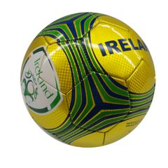 IRELAND YELLOW WITH COLORED STRIPES FIFA WORLD CUP SOCCER BALL SIZE 5 .. NEW AND IN A PACKAGE