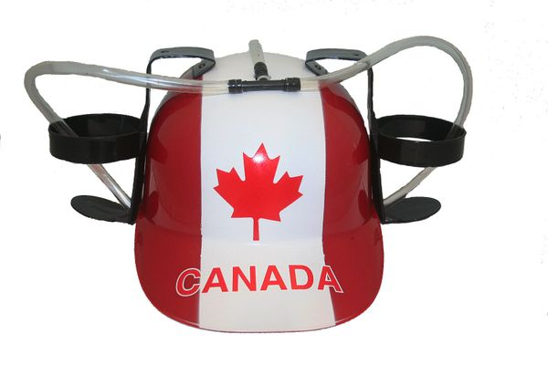 CANADA DRINKING HAT FIFA WORLD CUP .. FOR ADULTS & KIDS.. NEW AND IN A PACKAGE