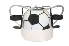 SOCCER BALL DRINKING HAT FIFA WORLD CUP .. FOR ADULTS & KIDS.. NEW AND IN A PACKAGE