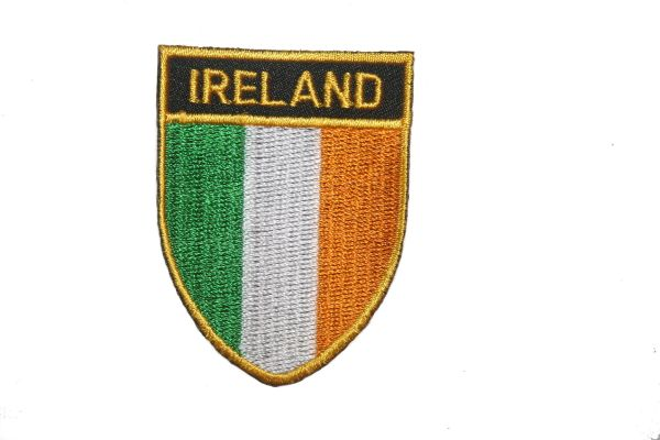 "IRELAND COUNTRY FLAG OVAL SHIELD EMBROIDERED IRON ON PATCH CREST BADGE .. SIZE : 2"" X 2.5"" INCHES .. NEW"