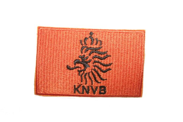 "NETHERLANDS HOLLAND ORANGE KNVB LOGO FIFA SOCCER WORLD CUP SQUARE EMBROIDERED IRON ON PATCH CREST BADGE .. SIZE : 2"" X 2.5"" INCHES .. NEW"