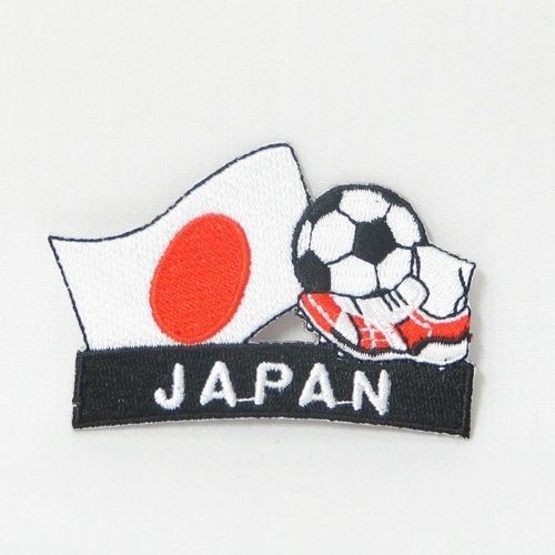 "JAPAN FIFA SOCCER WORLD CUP , KICK COUNTRY FLAG EMBROIDERED IRON ON PATCH CREST BADGE .. SIZE : 2"" x 1.75"" INCHES .. NEW"