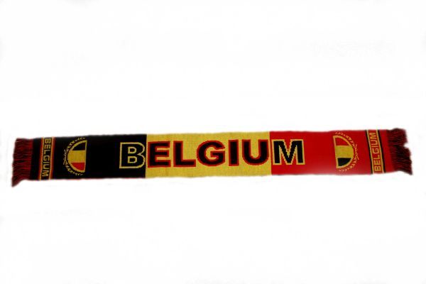 "BELGIUM COUNTRY FLAG FIFA SOCCER WORLD CUP THICK SCARF .. SIZE : 56"" INCHES LONG X 6"" INCHES WIDE , 100% POLYESTER HIGH QUALITY .. NEW"