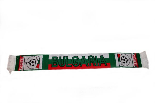"BULGARIA COUNTRY FLAG FIFA SOCCER WORLD CUP THICK SCARF . . SIZE : 56"" INCHES LONG X 6"" INCHES WIDE , 100% POLYESTER HIGH QUALITY .. NEW"