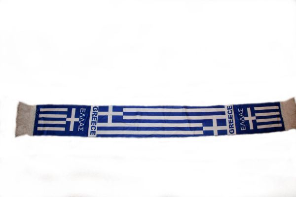 "GREECE HELLAS COUNTRY FLAG FIFA SOCCER WORLD CUP THICK SCARF .. SIZE : 56"" INCHES LONG X 6"" INCHES WIDE , 100% POLYESTER HIGH QUALITY .. NEW"