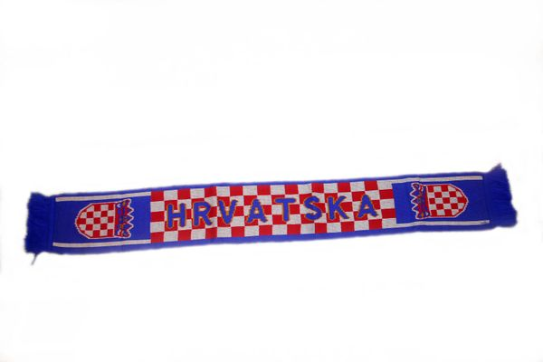 """HRVATSKA CROATIA COUNTRY FLAG FIFA SOCCER WORLD CUP THICK SCARF .. SIZE : 56"""" INCHES LONG X 6"""" INCHES WIDE , 100% POLYESTER HIGH QUALITY .. NEW"""