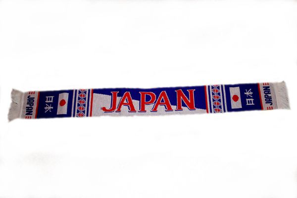 "JAPAN COUNTRY FLAG THICK SCARF .. SIZE : 56"" INCHES LONG X 6"" INCHES WIDE , 100% POLYESTER HIGH QUALITY .. NEW"
