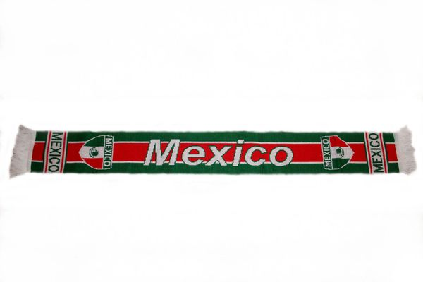 "MEXICO COUNTRY FLAG THICK SCARF .. SIZE : 56"" INCHES LONG X 6"" INCHES WIDE , 100% POLYESTER HIGH QUALITY .. NEW"