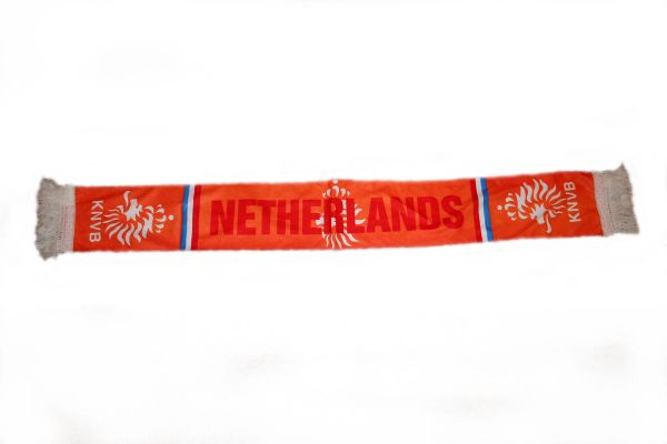 """NETHERLANDS COUNTRY FLAG KNVB LOGO FIFA SOCCER WORLD CUP THICK SCARF .. SIZE : 56"""" INCHES LONG X 6"""" INCHES WIDE , 100% POLYESTER HIGH QUALITY .. NEW"""