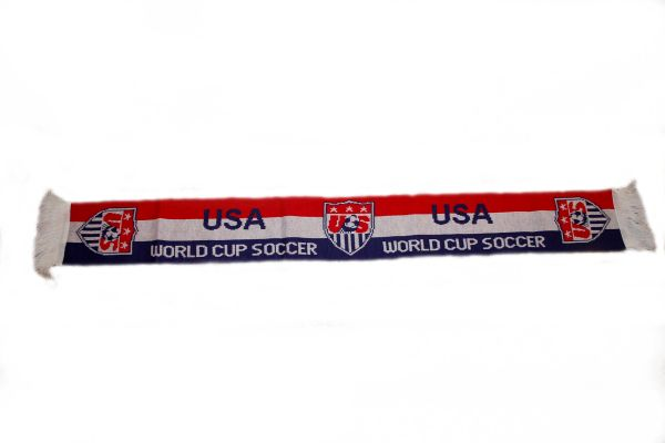 "USA ""WORLD CUP SOCCER"" COUNTRY FLAG THICK SCARF .. SIZE : 56"" INCHES LONG X 6"" INCHES WIDE , 100% POLYESTER HIGH QUALITY .. NEW"