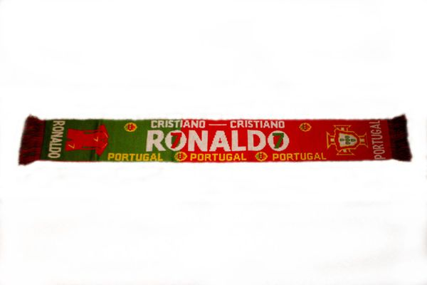"""CRISTIANO RONALDO # 7 , PORTUGAL FPF LOGO FIFA SOCCER WORLD CUP THICK SCARF .. SIZE : 56"""" INCHES LONG X 6"""" INCHES WIDE , 100% POLYESTER HIGH QUALITY .. NEW"""