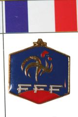 FRANCE FFF LOGO FIFA WORLD CUP SOCCER LOGO LAPEL PIN BADGE .. NEW AND IN A PACKAGE