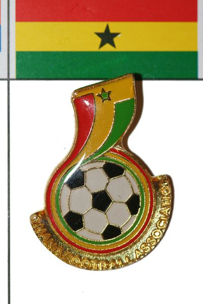 GHANA FIFA WORLD CUP SOCCER LOGO LAPEL PIN BADGE .. NEW AND IN A PACKAGE