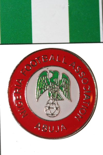 NIGERIA FIFA WORLD CUP SOCCER LAPEL PIN BADGE .. NEW AND IN A PACKAGE