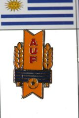 URUGUAY AUF LOGO FIFA WORLD CUP SOCCER LAPEL PIN BADGE .. NEW AND IN A PACKAGE