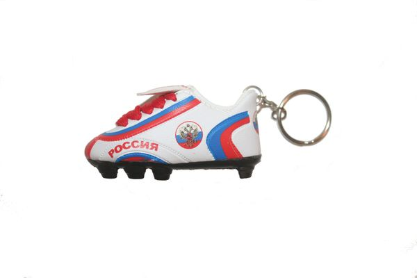 RUSSIA COUNTRY FLAG SHOE CLEAT KEYCHAIN .. NEW AND IN A PACKAGE