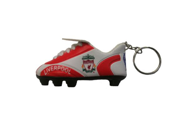 LIVERPOOL LOGO SOCCER SHOE CLEAT KEYCHAIN .. NEW AND IN A PACKAGE
