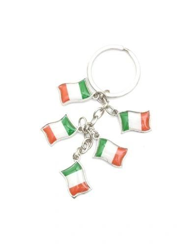 IRELAND 5 COUNTRY FLAG METAL KEYCHAIN .. NEW AND IN A PACKAGE