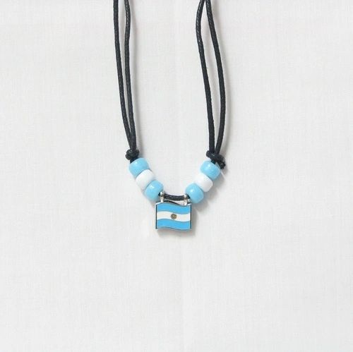 ARGENTINA COUNTRY FLAG SMALL METAL NECKLACE CHOKER .. NEW AND IN A PACKAGE