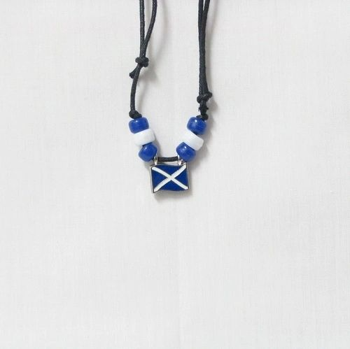 SCOTLAND - ST. ANDREW COUNTRY FLAG SMALL METAL NECKLACE CHOKER .. NEW AND IN A PACKAGE