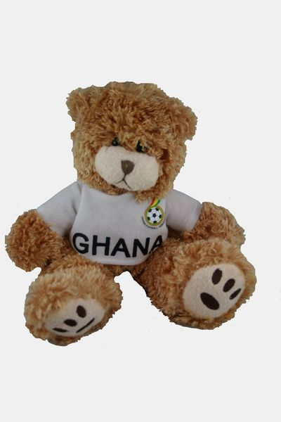 "GHANA FIFA SOCCER WORLD CUP SMALL 10"" INCHES JERSEY BEAR .. GREAT QUALITY .. NEW AND IN A PACKAGE"