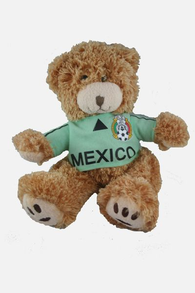 "MEXICO FIFA SOCCER WORLD CUP SMALL 10"" INCHES JERSEY BEAR .. GREAT QUALITY .. NEW AND IN A PACKAGE"
