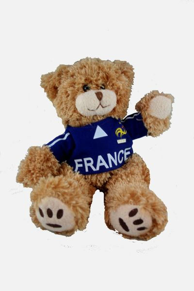 """FRANCE FIFA SOCCER WORLD CUP SMALL 10"""" INCHES JERSEY BEAR .. GREAT QUALITY .. NEW AND IN A PACKAGE"""