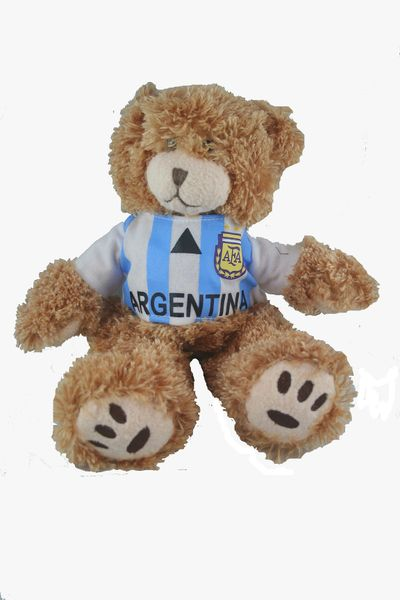 """ARGENTINA FIFA SOCCER WORLD CUP SMALL 10"""" INCHES JERSEY BEAR .. GREAT QUALITY .. NEW AND IN A PACKAGE"""